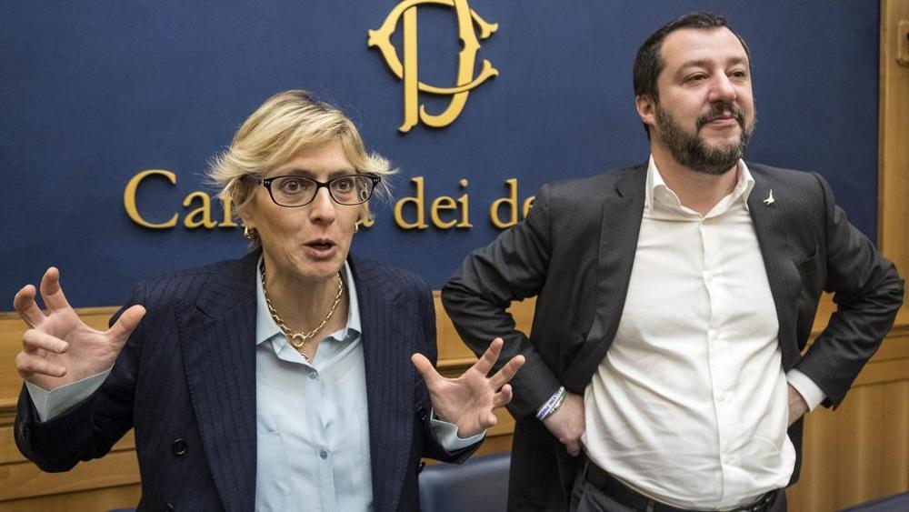 Giulia Bongiorno, avvocatessa di Palermo, candidata con la Lega